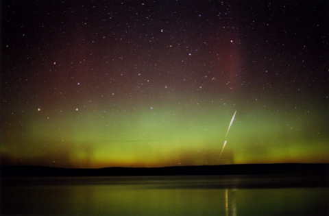Northern Lights Yellowstone Lake Wyoming